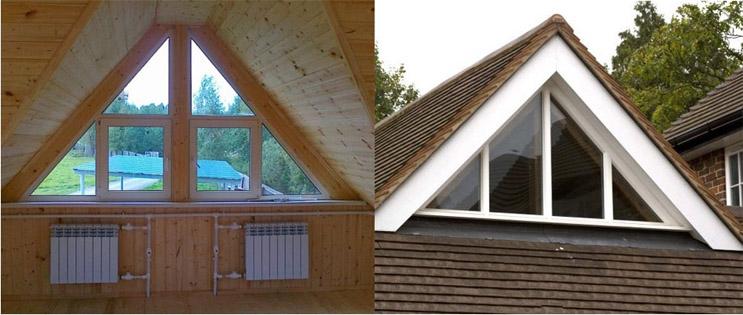 Как сделать крышу с окнами 614